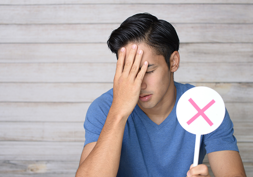 精液検査の結果が怖い男性